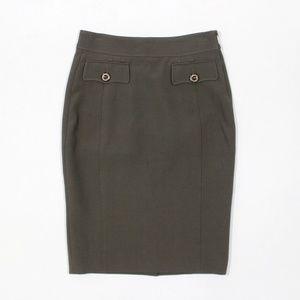 Burberry London Mock Pocket Pencil Skirt Viscose